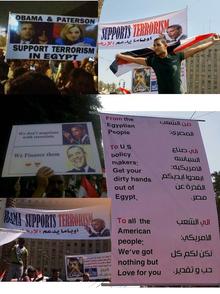 Egyptians send a message to the American people and to American politicians