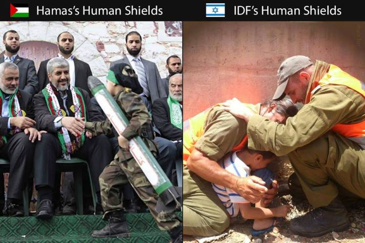 Human Shields - the difference between us & them