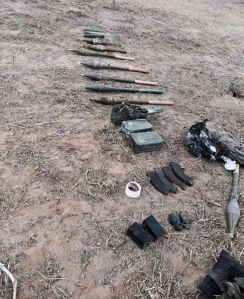 weapons left behind by terrorists