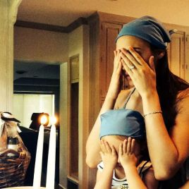 Israeli actress Gal Gadot lights Shabbat candles  & prays with her daughter for the safety of IDF soldiers & the Nation of Israel