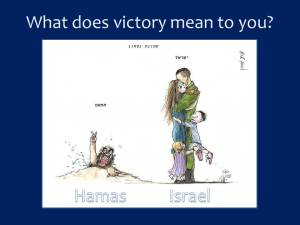 What does victory mean to you? This image, making the rounds of Israeli social media, clearly shows what we fight for...