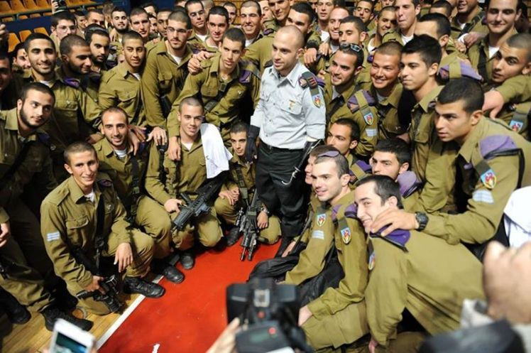 Captin Ziv Shilon with his Givati soldiers