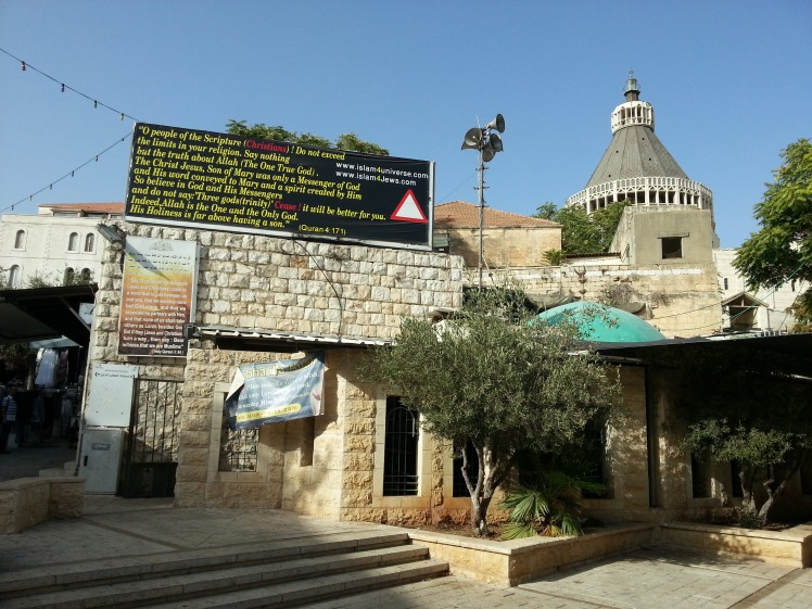 Basilica of the Annunciation - outside 2014