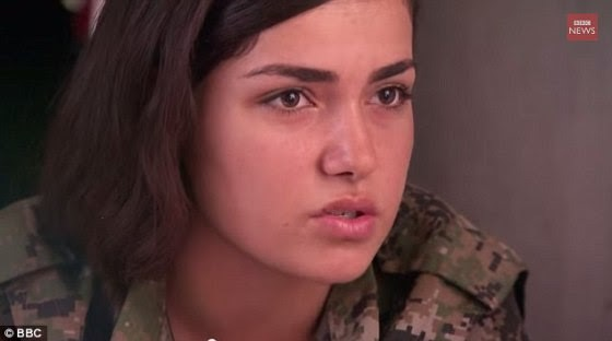 The fate of 19 year old Ceylan Ozalp who appeared in a report about female Kurdish fighters is uncertain. Turkish newspapers reported Miss Ozalp was fighting ISIS fanatics near the Syrian city of Kobane – which has a Kurdish majority – when she ran out of ammunition, leaving her facing rape and murder. Rather than fall into the Islamists' hands, Miss Ozalp is said to have used her final bullet to take her own life – calling her colleagues over the radio to say goodbye before killing herself, it was claimed News of her suicide – which was initially said to have been confirmed by pro-Kurdish politicians in Turkey's BDP party – have since been called into question however, with several Turkey-based journalists quoting senior Kurds as saying Ms Ozalp is still alive and continues to fight against ISIS.