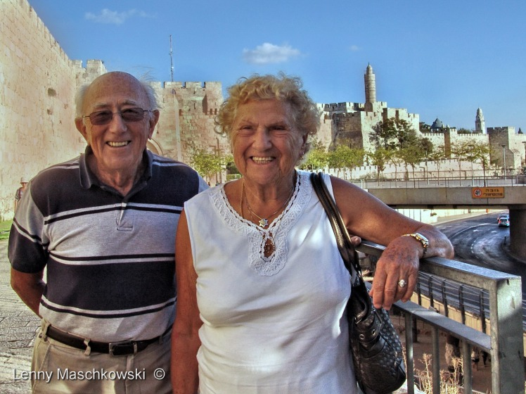 Hanna Marx & Gerhard Maschkowski in Jerusalem Sept 20th, 2014