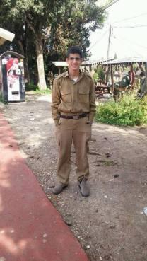 Muhammad Zoabi in uniform