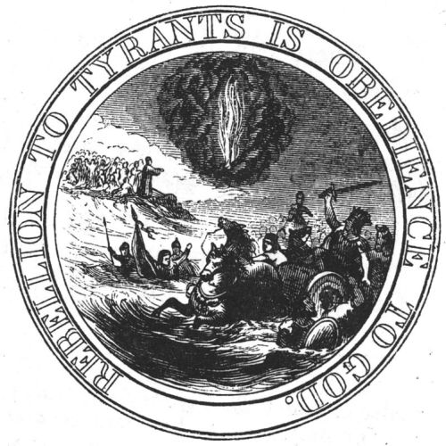 Rebellion to tyrants is obedience to God - proposed great seal