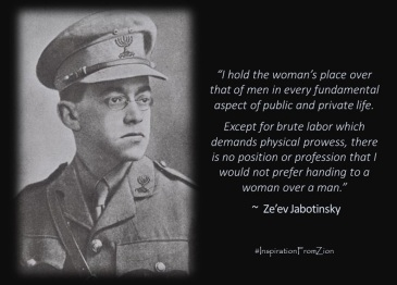 Jabotinsky - Zionist Feminist | Inspiration from Zion